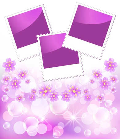 transparent brush: Floral background with flowers for an insert of the photo