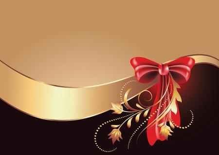Background with golden ornament for vaus design artwork Stock Vector - 9932907
