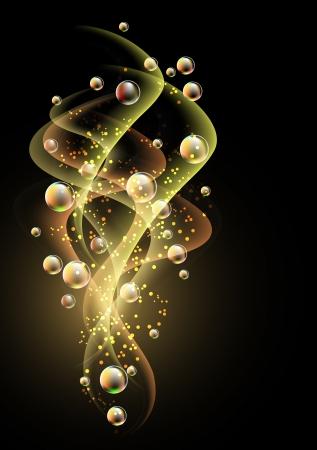 bulles: Arri�re-plan �clatant avec fum�e et bulles