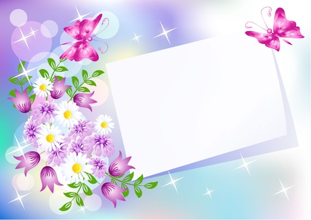 Floral background for an insert of the text or a photo.