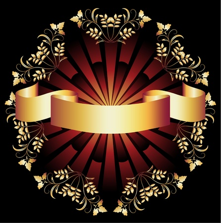 luxurious background: Background with golden ornament for various design artwork