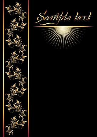 front page: Front page with golden elegant ornament  Illustration