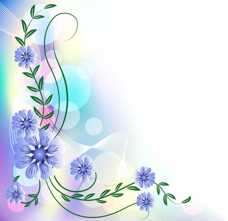 transparent brush: Floral background with bokeh Illustration