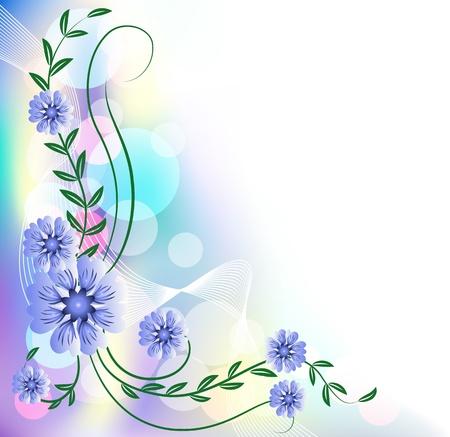 translucent: Floral background with bokeh Illustration
