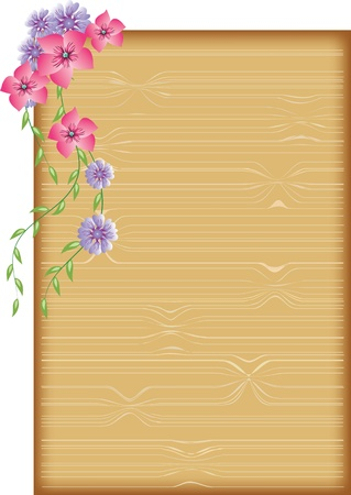 wooden insert: Background to insert text or photo Illustration