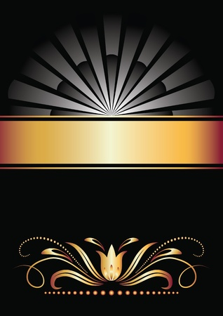 Background with golden ornament for vaus design artwork Stock Vector - 10143817
