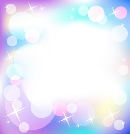 brilliant colors: Glowing background with stars and round