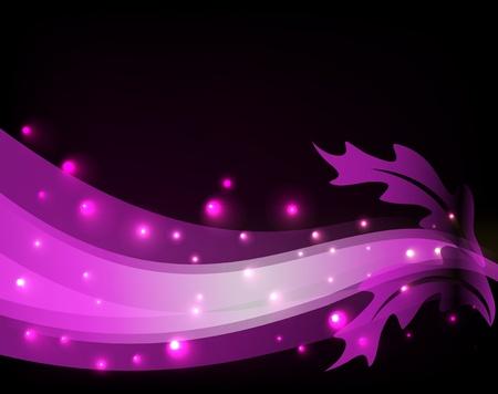 Gloeiende achtergrond met doorschijnend linten Stock Illustratie