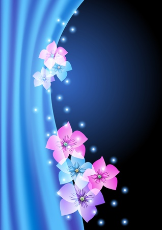 drape: Magic flower background