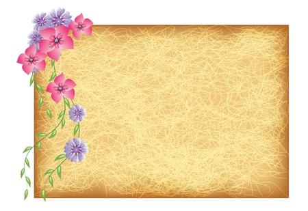 grunge photo frame: Grunge background con fiori di arte e di design vari