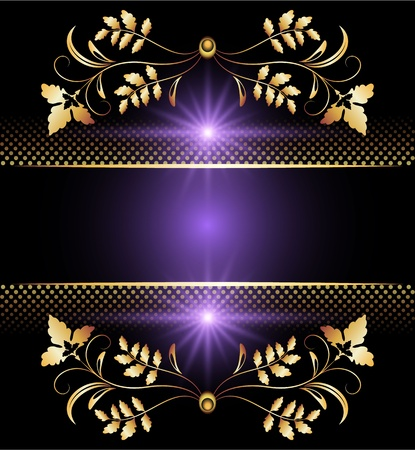 Background with golden ornament for vaus design artwork Stock Vector - 10194495