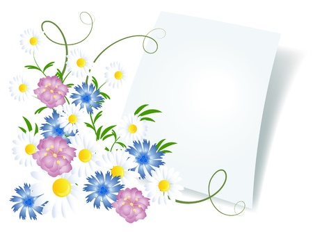 attached: Floral background for an insert of the text or a photo