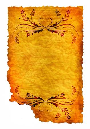 crumple: Old paper - crumple parchment paper texture background  Stock Photo