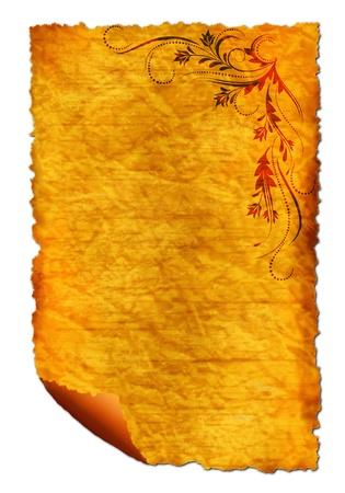 Old paper - crumple parchment paper texture background  photo