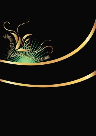 Background with golden ornament for vaus design artwork Stock Vector - 10194533