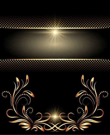 Background with golden ornament for various design artwork Stock Vector - 10194544