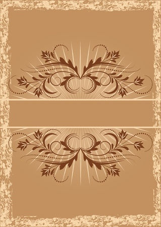 heading: Vintage background with ornament Illustration