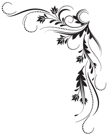 tatouage fleur: Ornement d�coratif pour diverses ?uvres de conception Illustration