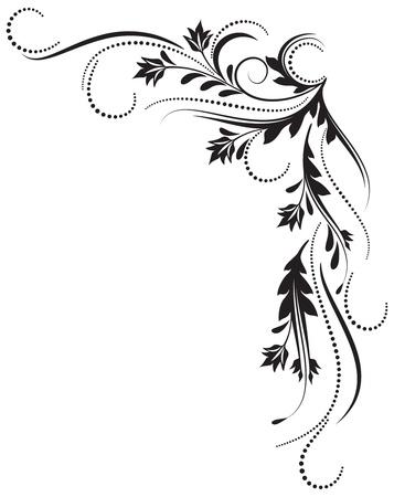 tatouage fleur: Ornement décoratif pour diverses ?uvres de conception Illustration