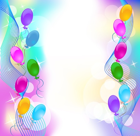 Background with balloons Stock Vector - 10253764