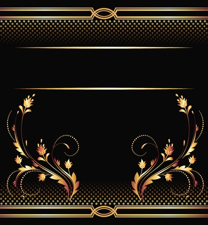 luxurious: Background with golden ornament for various design artwork