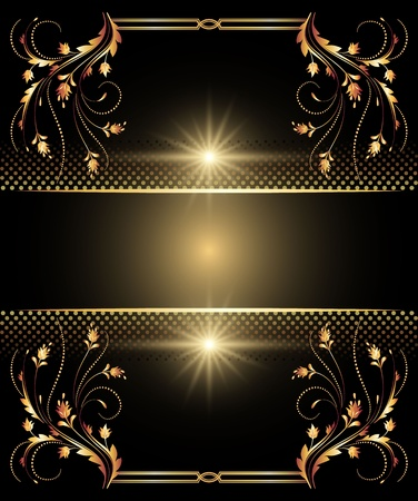 Background with golden ornament for various design artwork Stock Vector - 10258961