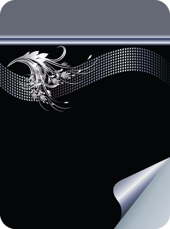 visiting: Business background with silver ornament for various design artwork