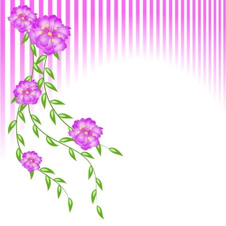 Gestileerde kaart met bloemen