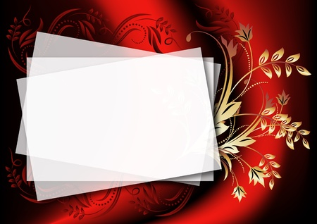blank note: Magic floral background to insert text or photo Illustration