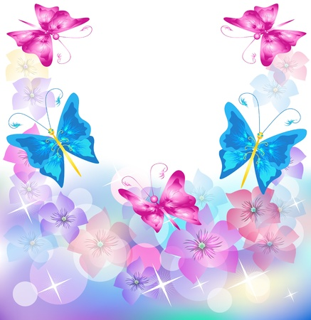 develop: Floral background for an insert of the text or a photo. Illustration