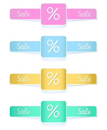 Set stickers or label  in pastel colors  for your text Vector