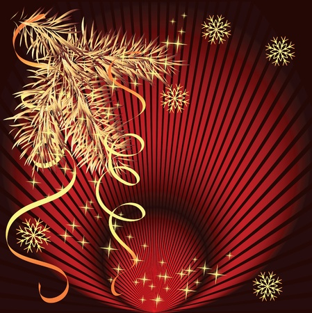 Christmas background with spruce branch Stock Vector - 10290801