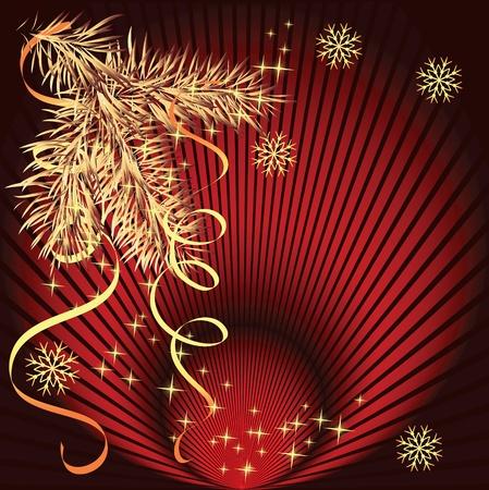 Kerst achtergrond met sparren tak
