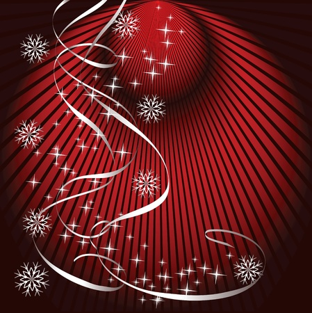 Christmas background with serpentine Stock Vector - 10290799
