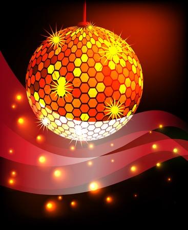 celebratory: Celebratory background with diskoball