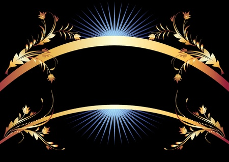 vignette: Background with golden ornament for various design artwork