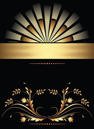 Background with golden ornament for vaus design artwork Stock Vector - 10290795