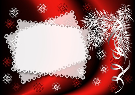 yule: Christmas background with spruce branch Illustration
