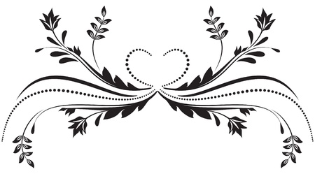 romanticism: Decorative ornament for various design artwork