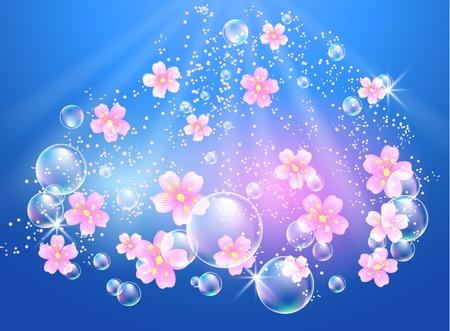 Flowers in the sky Vector
