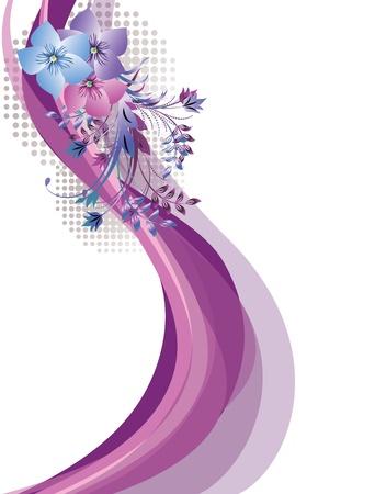 Adorno floral para diversas obras de arte de diseño  Ilustración de vector