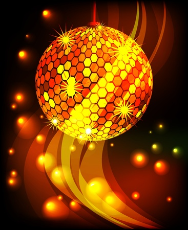 discoball: Celebratory background with diskoball
