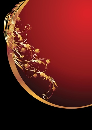 titles: Background with golden ornament for various design artwork