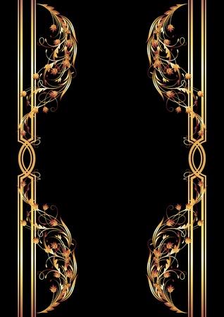 Background with golden ornament for vaus design artwork Stock Vector - 10343097