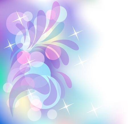 Glowing bokeh and stars Stock Vector - 10343120