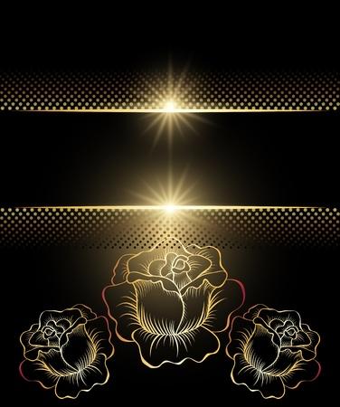 Background with golden ornament for vaus design artwork Stock Vector - 10343150