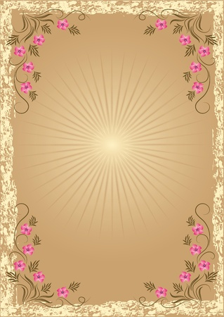 Card in retro style with meadow flower Stock Vector - 10373803