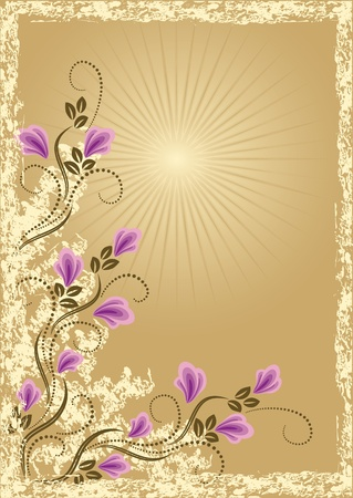 Card in retro style with meadow flower Stock Vector - 10373809