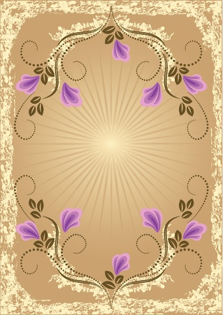 Card in retro style with meadow flower Stock Vector - 10373810