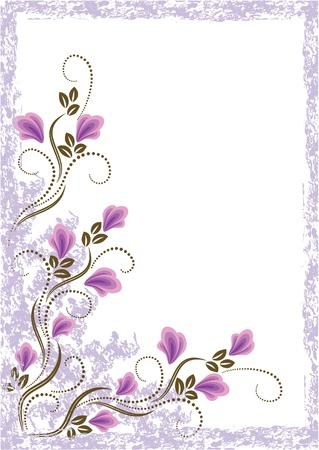 Card in retro style with meadow flower Stock Vector - 10373811